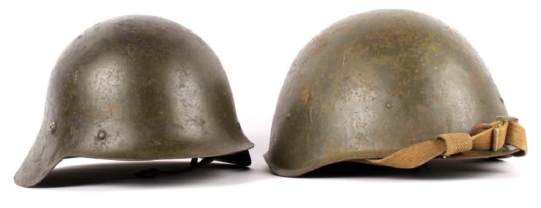 WWII EUROPEAN HELMETS LOT OF 2
