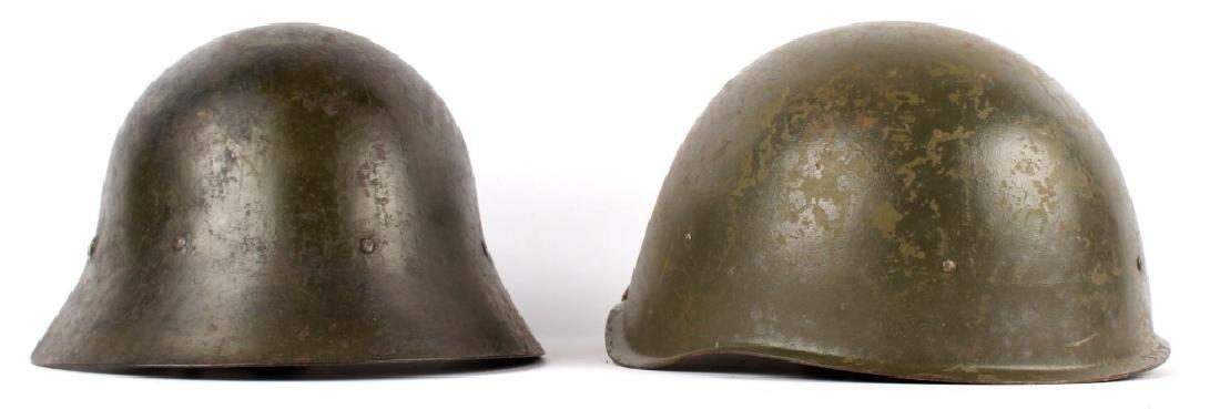 WWII EUROPEAN HELMETS LOT OF 2 - 2