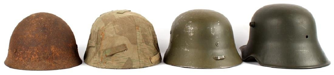 WWII EUROPEAN AND JAPANESE HELMET LOT OF 4 - 2