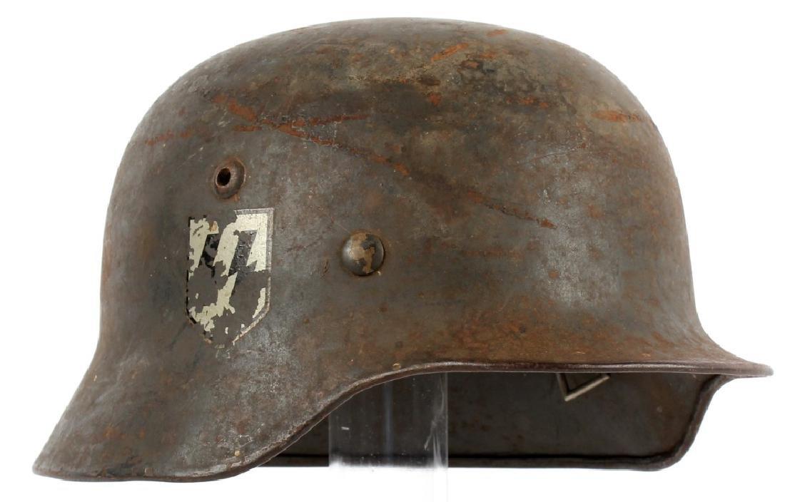 WWII GERMAN M40 SS HELMET