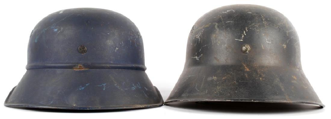 WWII GERMAN LUFTSCHUTZ HELMET LOT OF 2 - 2
