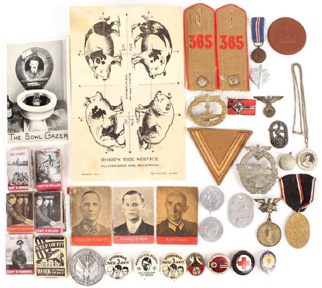 WWII GERMAN LOT OF MILITARIA