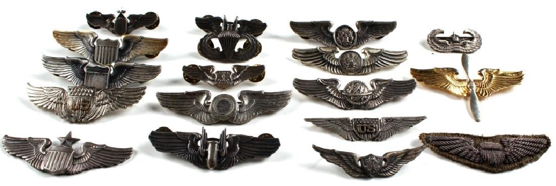WWII US WINGS PIN LOT OF 18 - 2