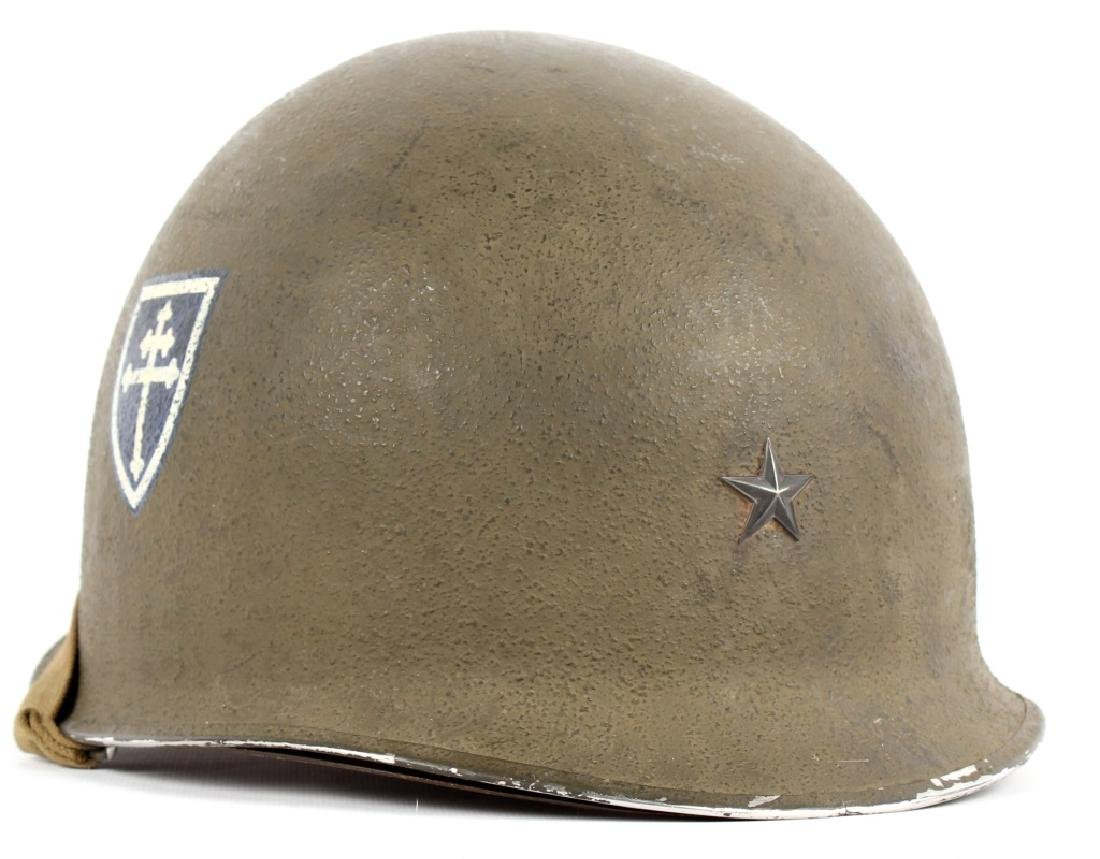 WWII US FIXED BAIL M1 GENERAL'S HELMET 79th INF