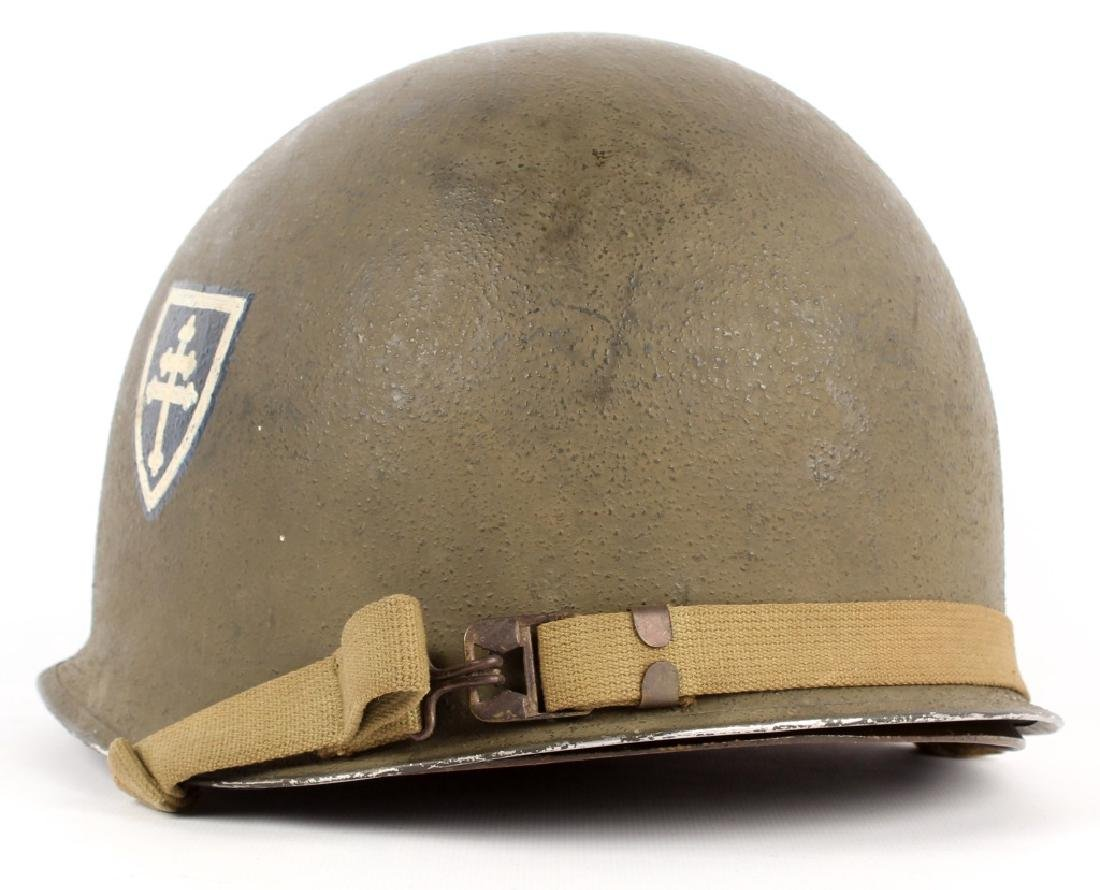 WWII US FIXED BAIL M1 GENERAL'S HELMET 79th INF - 2