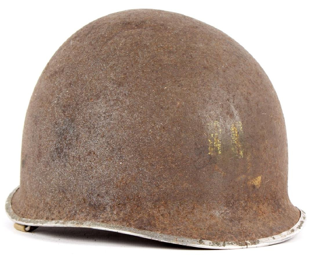 WWII US FIXED BAIL M1 CAPTAIN'S HELMET NAMED