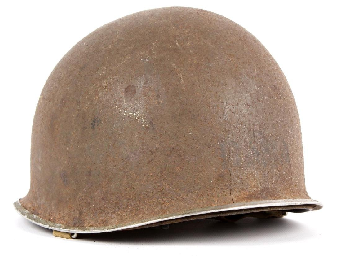 WWII US FIXED BAIL M1 CAPTAIN'S HELMET NAMED - 2