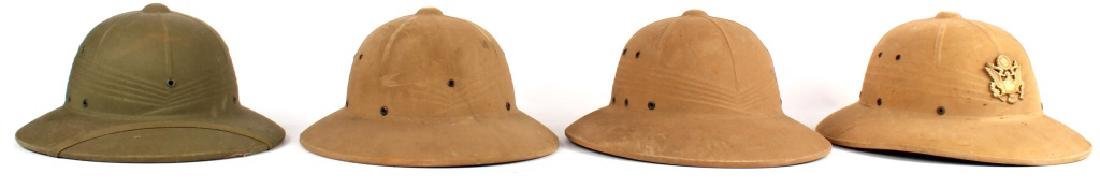 PITH HELMET LOT OF 4