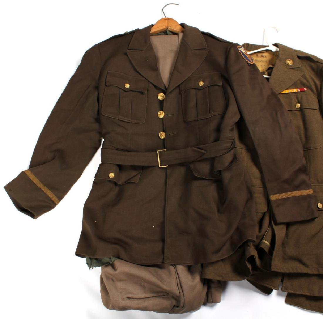 WWII ERA US ARMY UNIFORM LOT OF 5 - 10