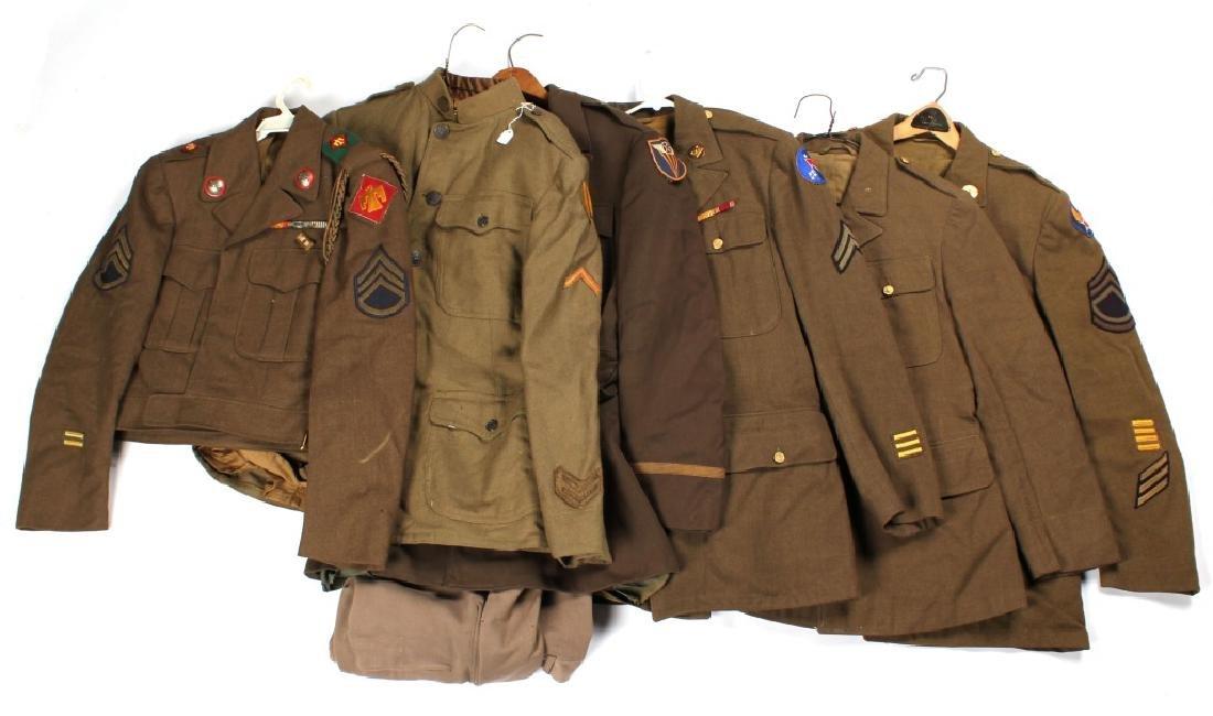 WWII ERA US ARMY UNIFORM LOT OF 5