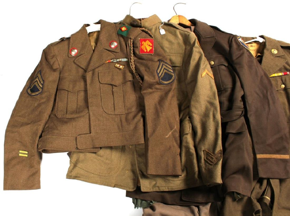 WWII ERA US ARMY UNIFORM LOT OF 5 - 6
