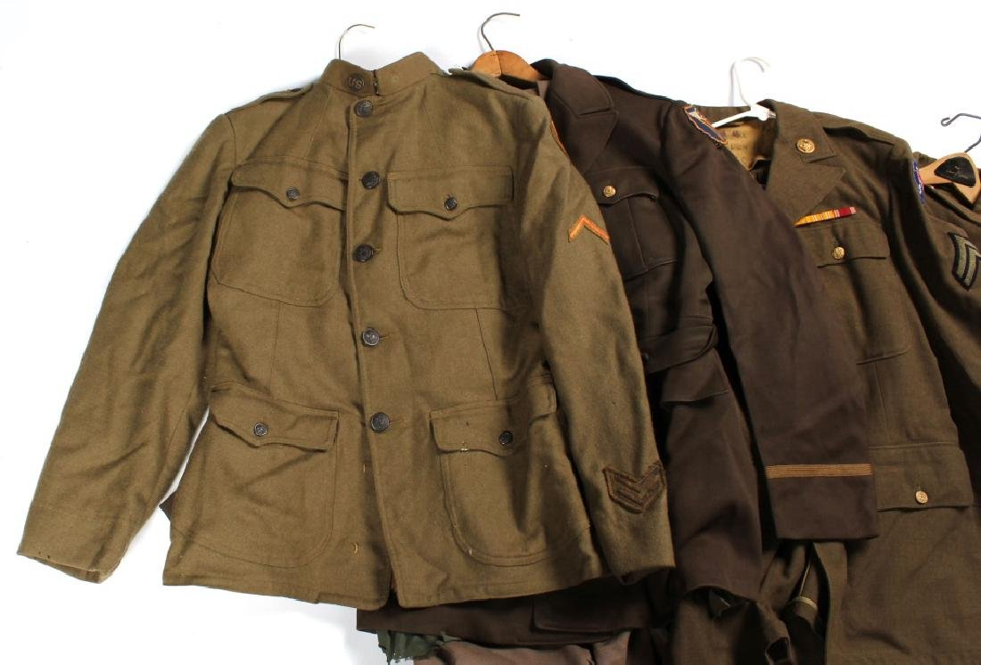 WWII ERA US ARMY UNIFORM LOT OF 5 - 8