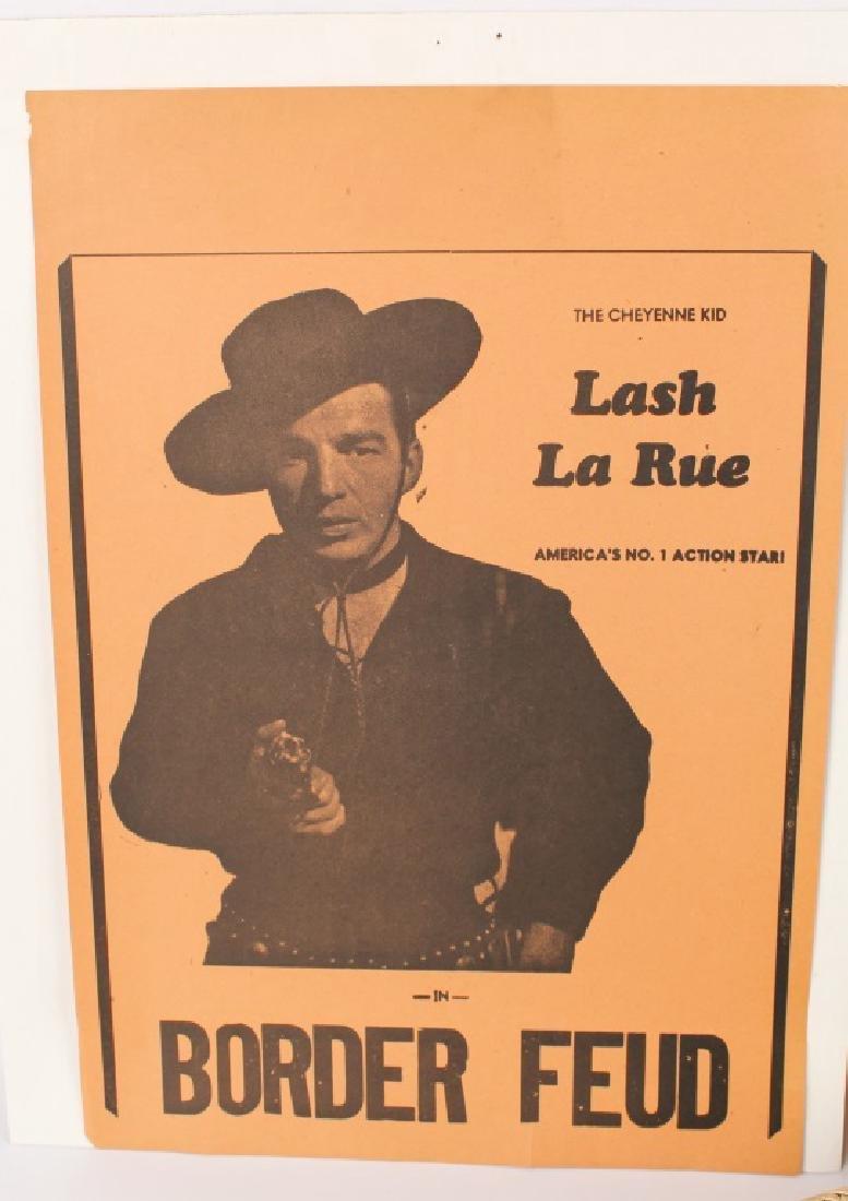 WESTERN STAR LASH LARUE WHIP & SIGNED ITEMS - 2