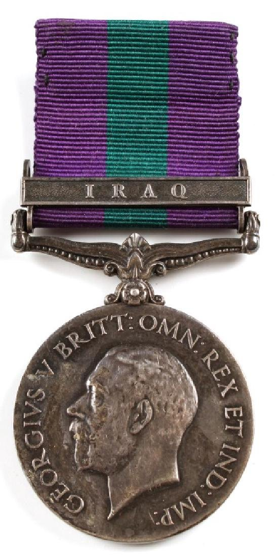 BRITISH GEORGE V IRAQ CAMPAIGN MEDAL