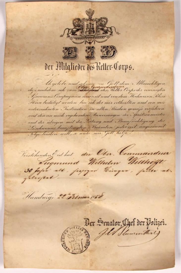 1872 GERMAN FIREMAN SILVER PRESENTATION CUP - 2