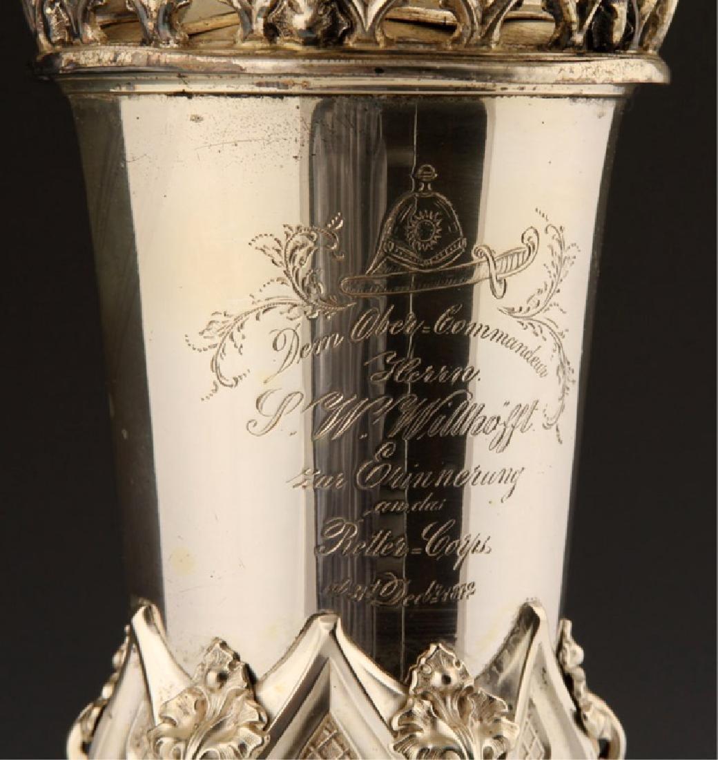 1872 GERMAN FIREMAN SILVER PRESENTATION CUP - 6