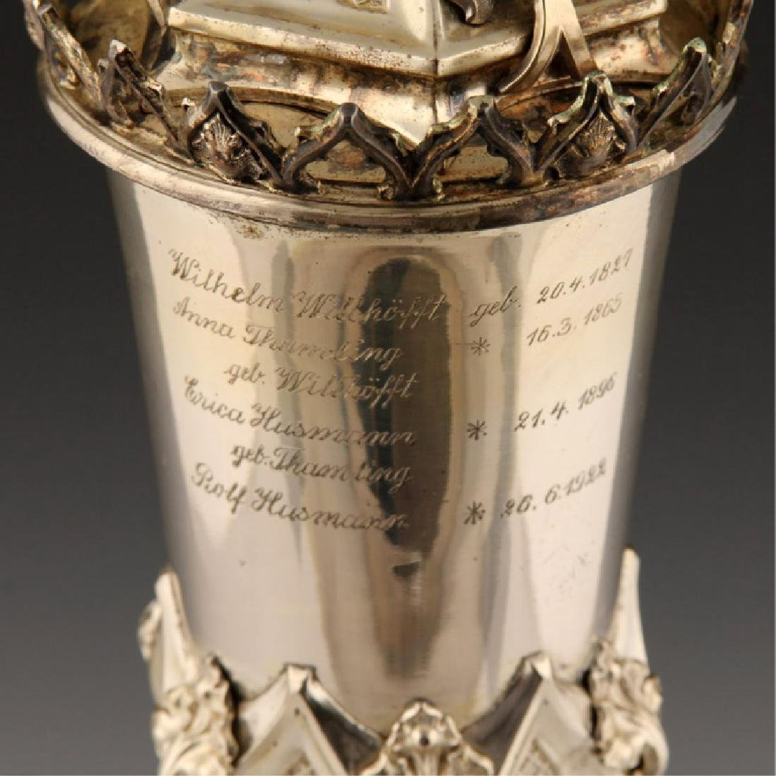 1872 GERMAN FIREMAN SILVER PRESENTATION CUP - 8