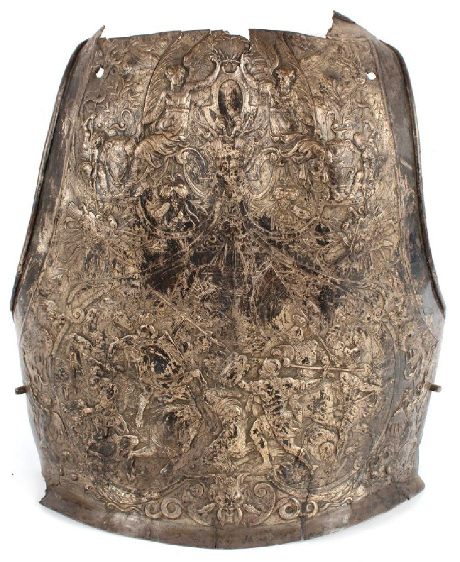 ANTIQUE REPOUSSE ARMOR BREASTPLATE