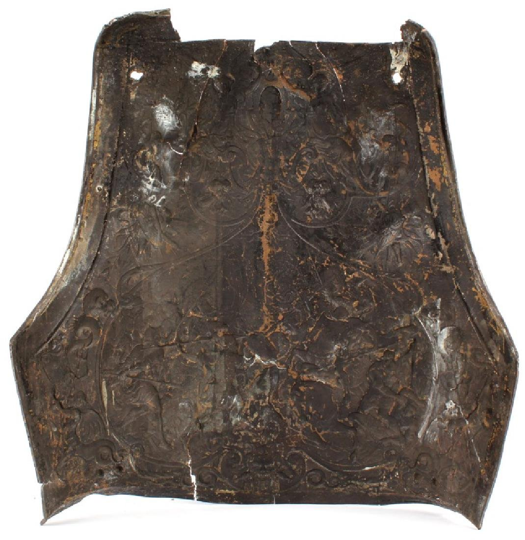 ANTIQUE REPOUSSE ARMOR BREASTPLATE - 2