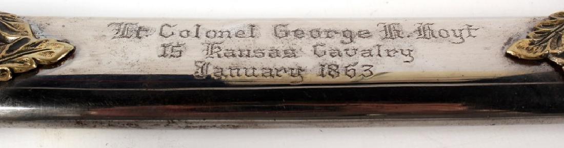 CIVIL WAR PRESENTATION SWORD OF GEORGE HENRY HOYT - 2