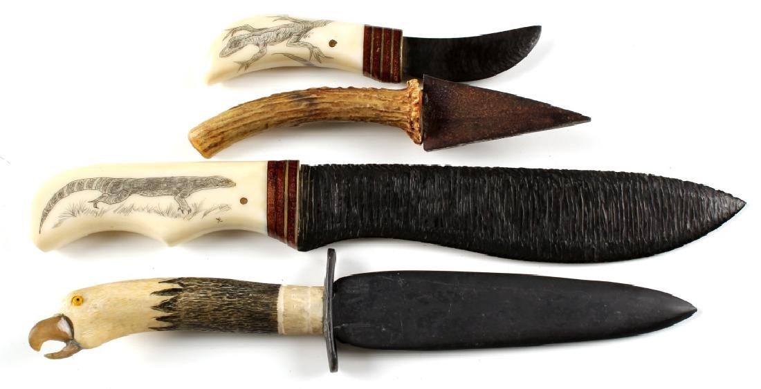 PRIMITIVE STYLE KNIFE LOT OF 4