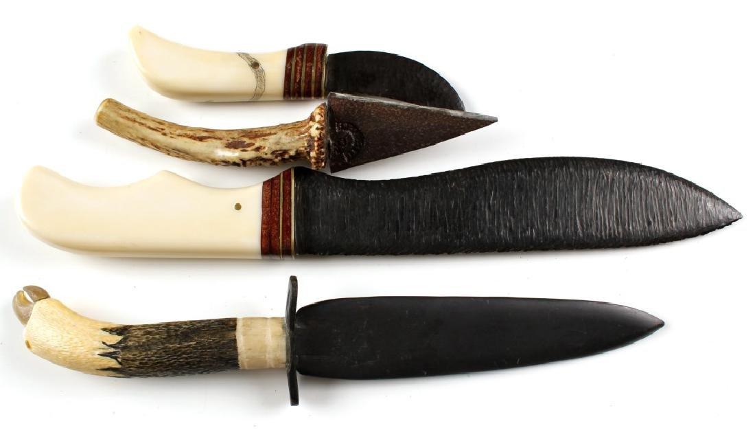 PRIMITIVE STYLE KNIFE LOT OF 4 - 3