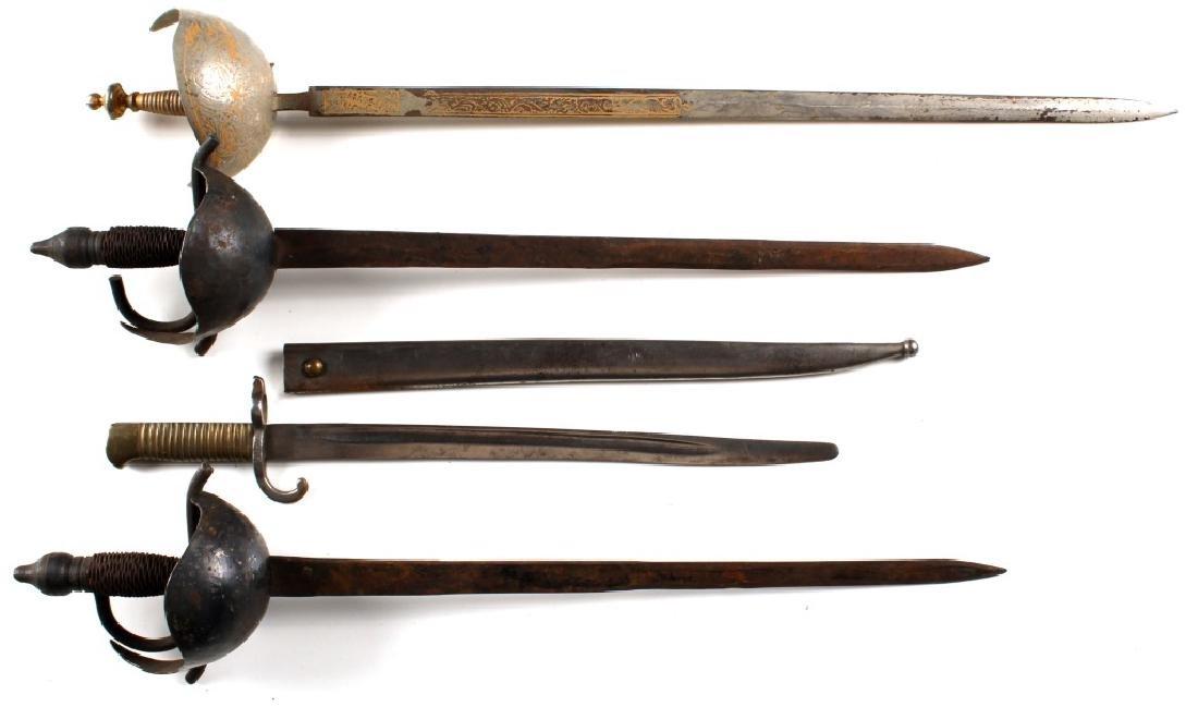 MINI SWORD AND BAYONET LOT OF 4