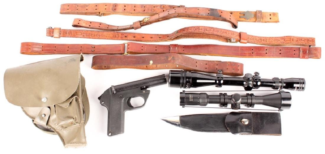 FLARE PISTOL RIFLE SCOPE AND SLING LOT