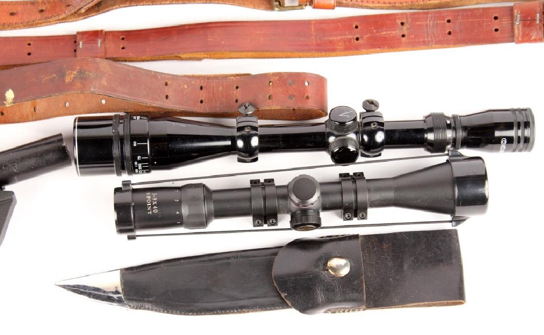 FLARE PISTOL RIFLE SCOPE AND SLING LOT - 2
