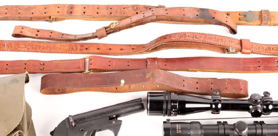 FLARE PISTOL RIFLE SCOPE AND SLING LOT - 4