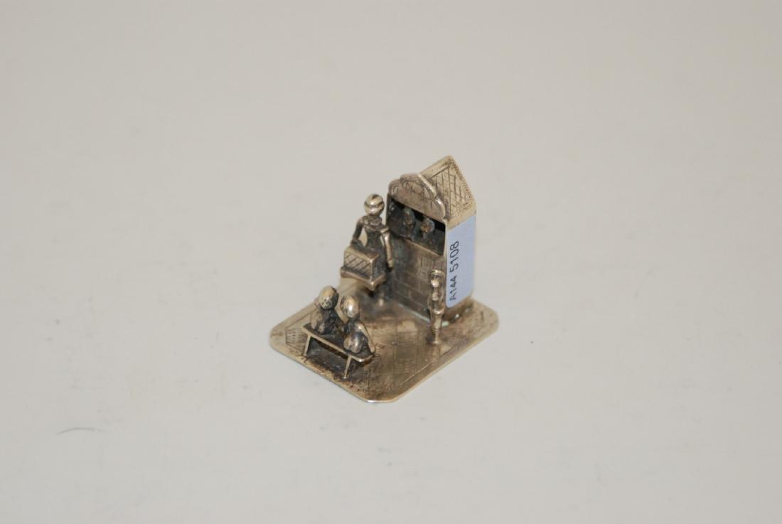 Miniatur-Figurengruppe Holland, um 1900. Silber.