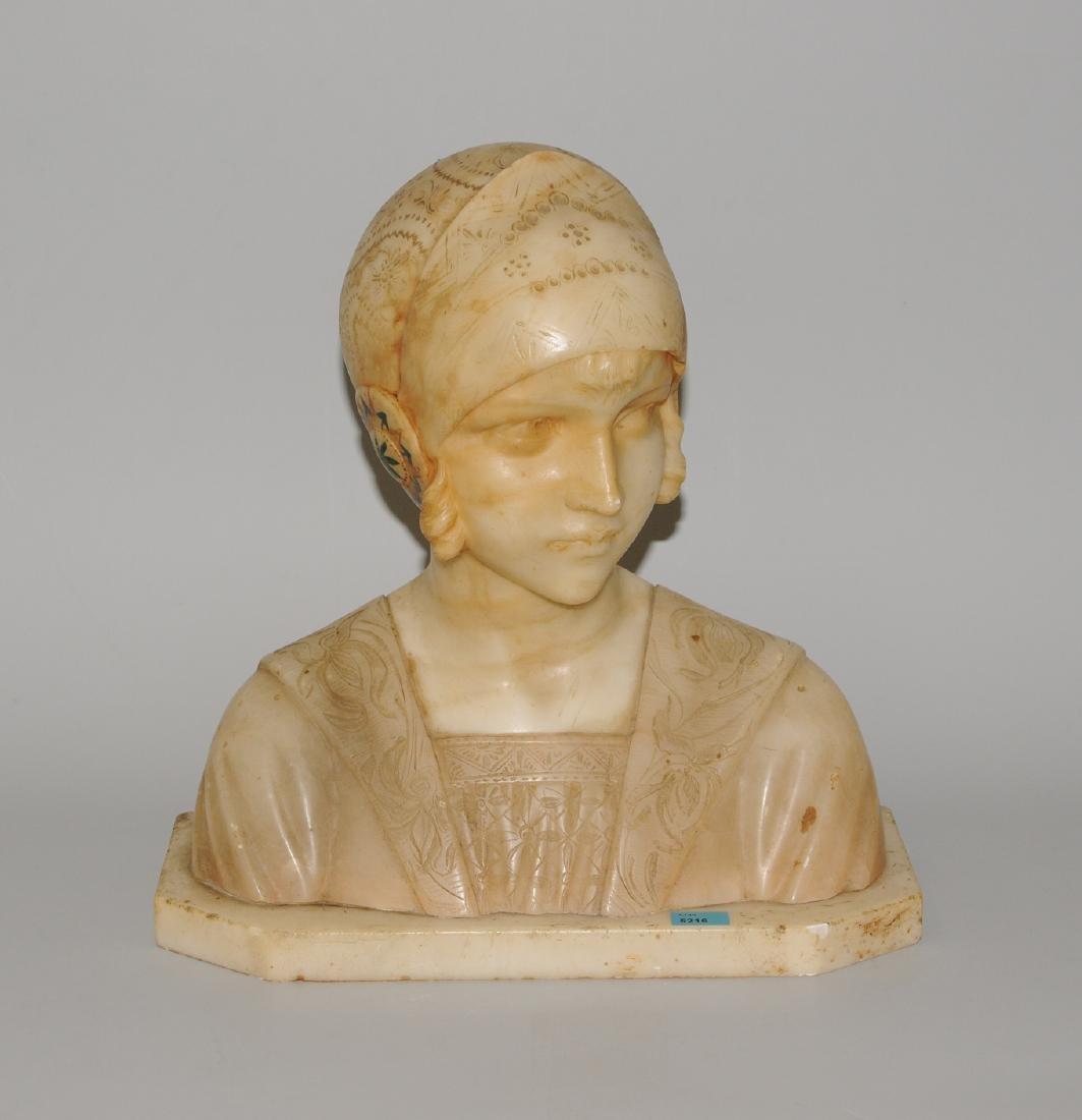 Figur Um/Nach 1900. Unbezeichnet. Alabaster.
