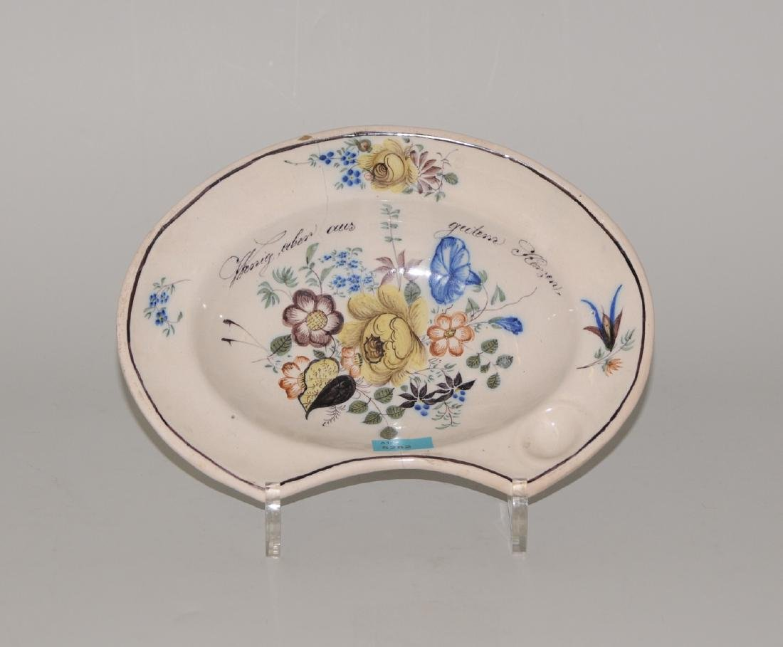 Bartschale Schooren, Ende 19.Jh. Keramik, reiche