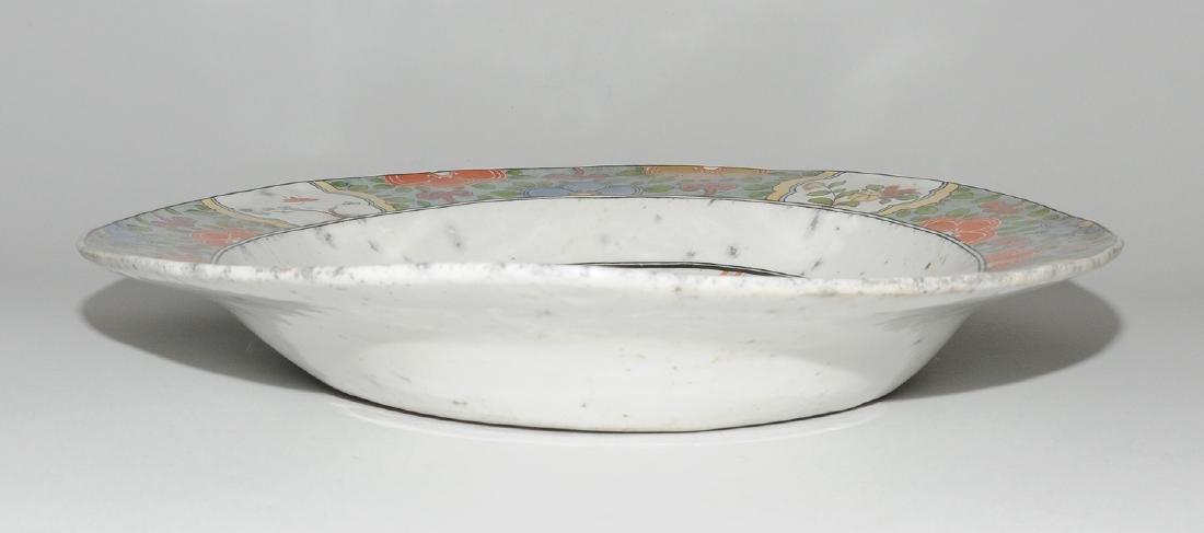 Zierplatte Keramik, polychrom bemalt und mit Gold - 2