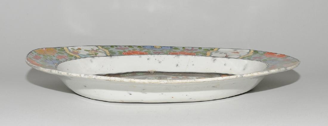 Zierplatte Keramik, polychrom bemalt und mit Gold - 3