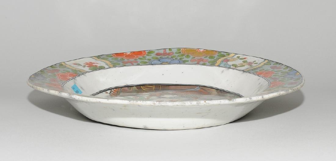 Zierplatte Keramik, polychrom bemalt und mit Gold - 4