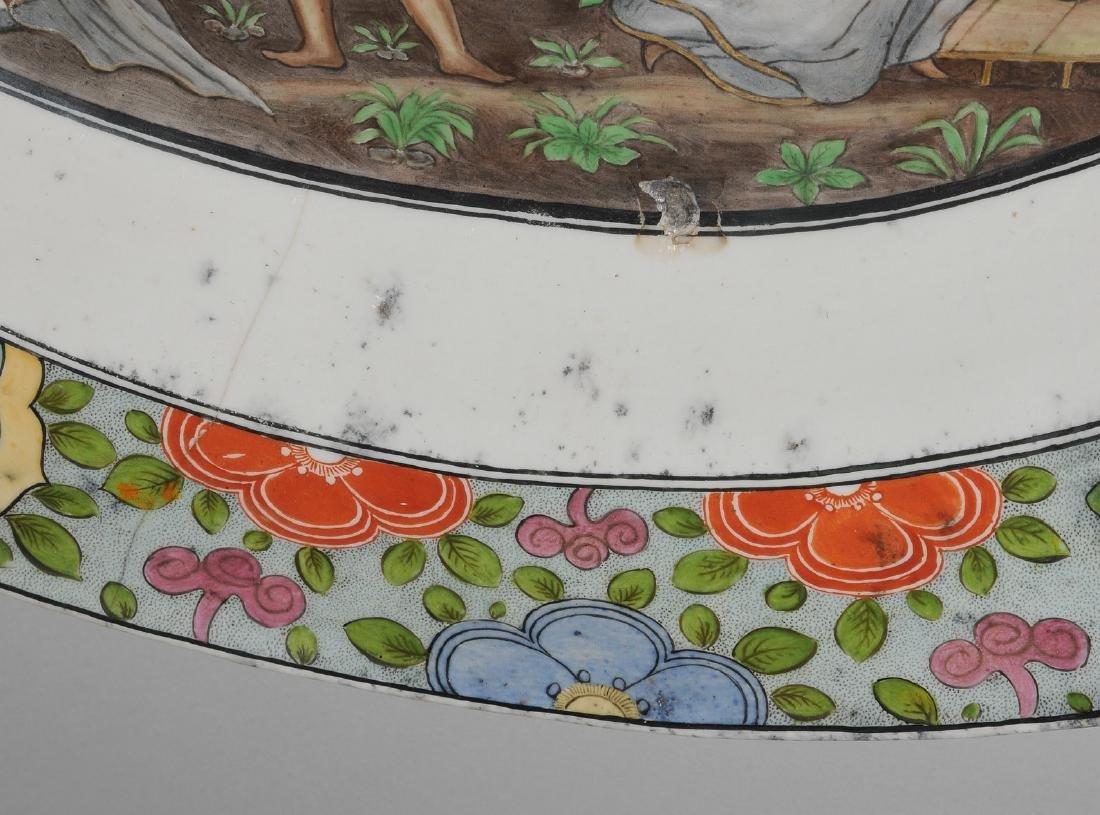 Zierplatte Keramik, polychrom bemalt und mit Gold - 8