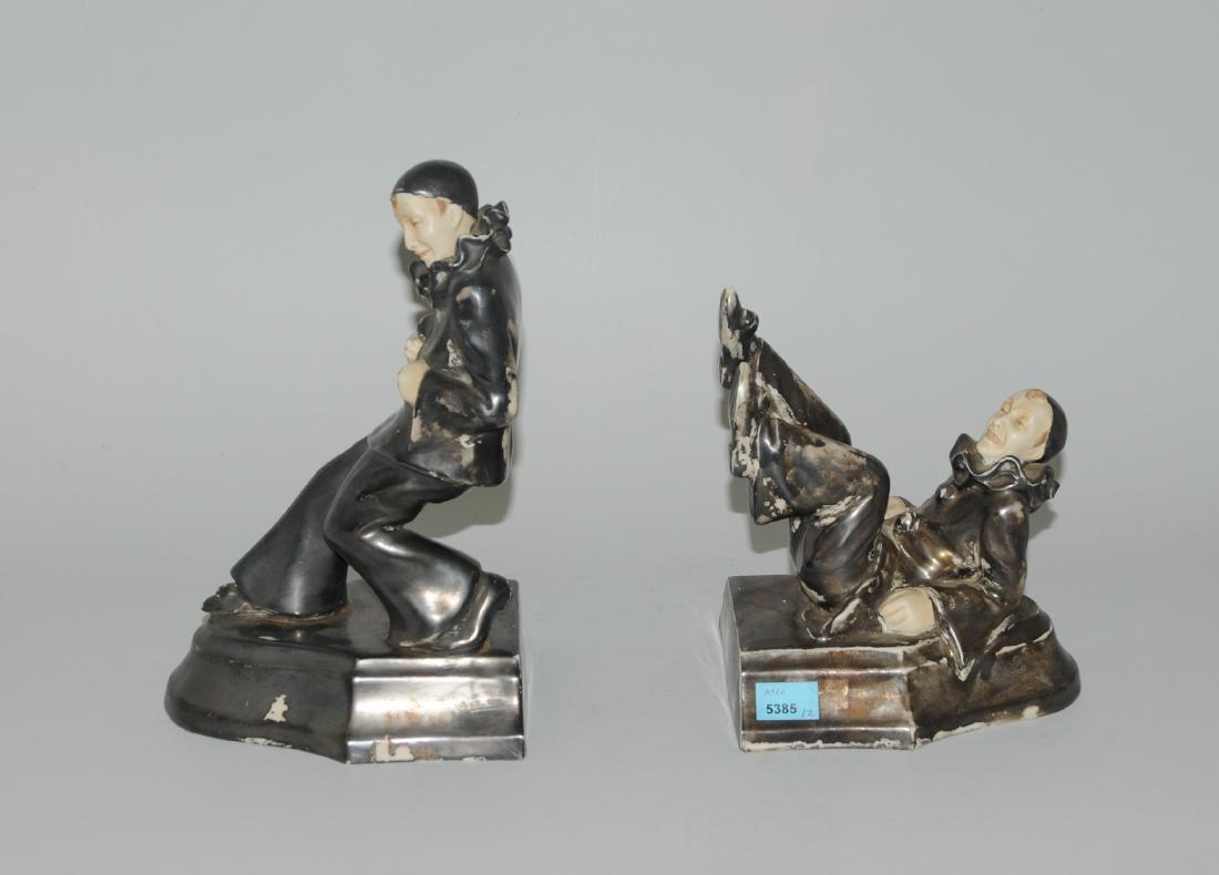 1 Paar Buchstützen Tschechoslowakei, 20.Jh. Porzellan,