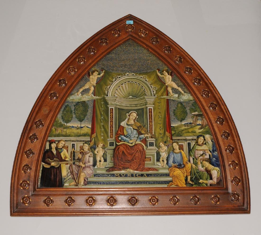 Porzellanbild Florenz, 1880-1900. Wohl Cantagalli.