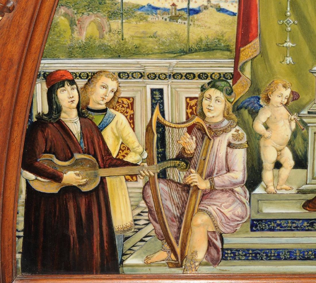 Porzellanbild Florenz, 1880-1900. Wohl Cantagalli. - 2