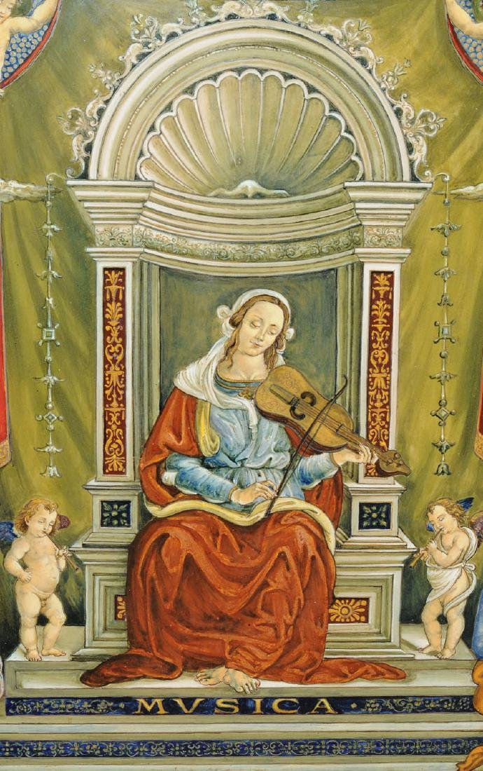 Porzellanbild Florenz, 1880-1900. Wohl Cantagalli. - 3