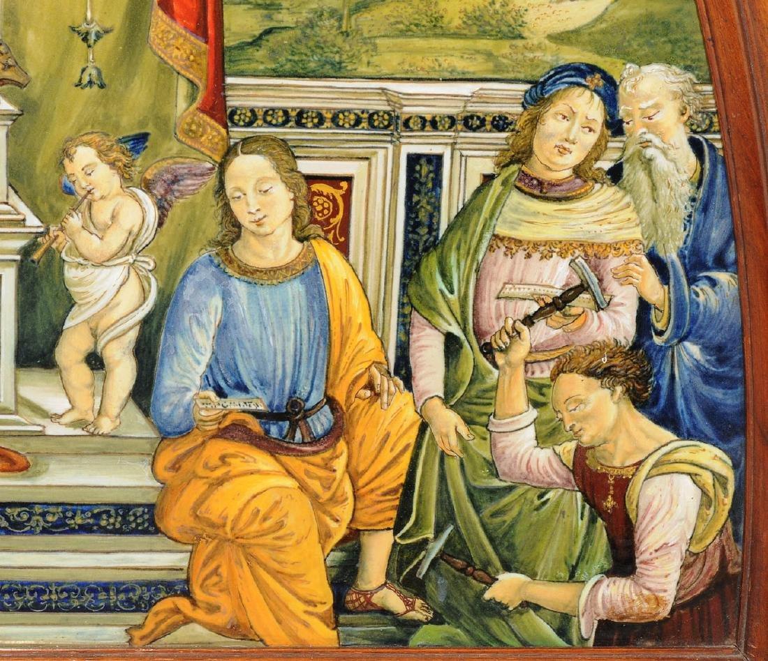 Porzellanbild Florenz, 1880-1900. Wohl Cantagalli. - 4