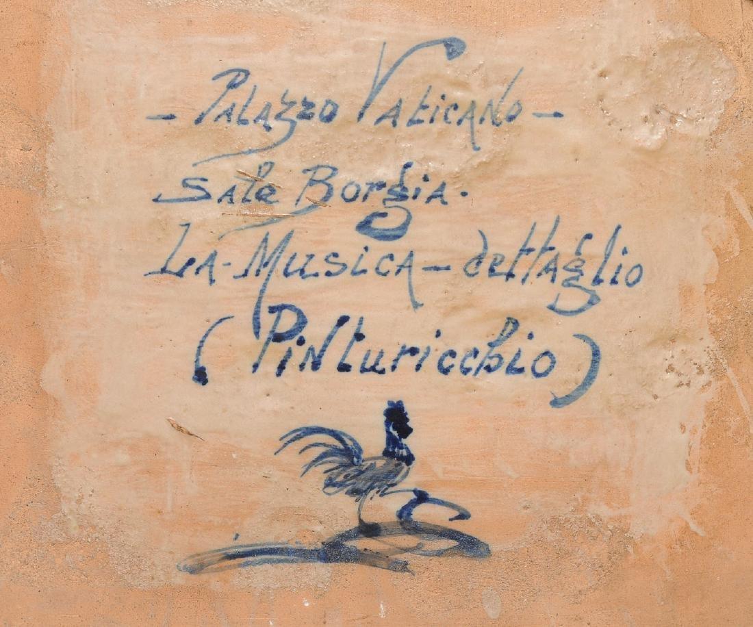 Porzellanbild Florenz, 1880-1900. Wohl Cantagalli. - 6