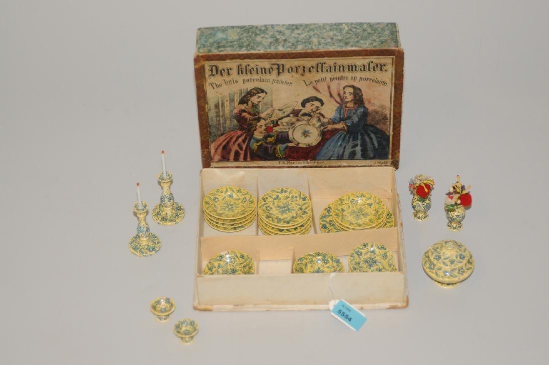 """Puppenservice Nürnberg, um 1850/60. Bezeichnet: """"Der"""