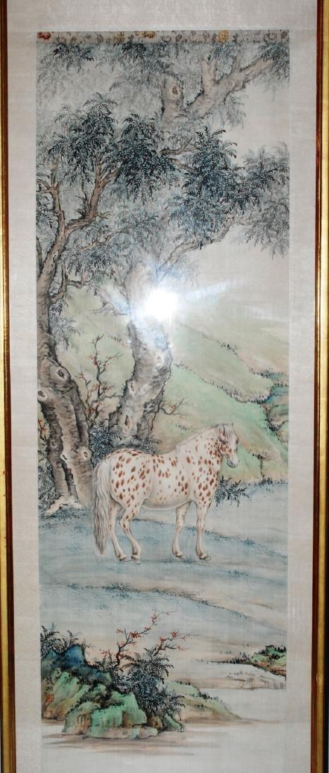 Malerei China, 20.Jh. Tusche und Farbe auf Seide. Braun