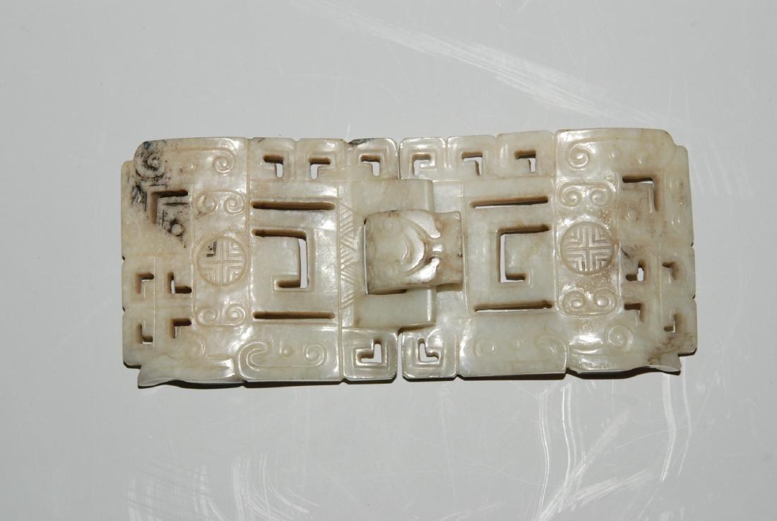 Gürtelschnalle China. Archaischer Stil. Zweiteilige