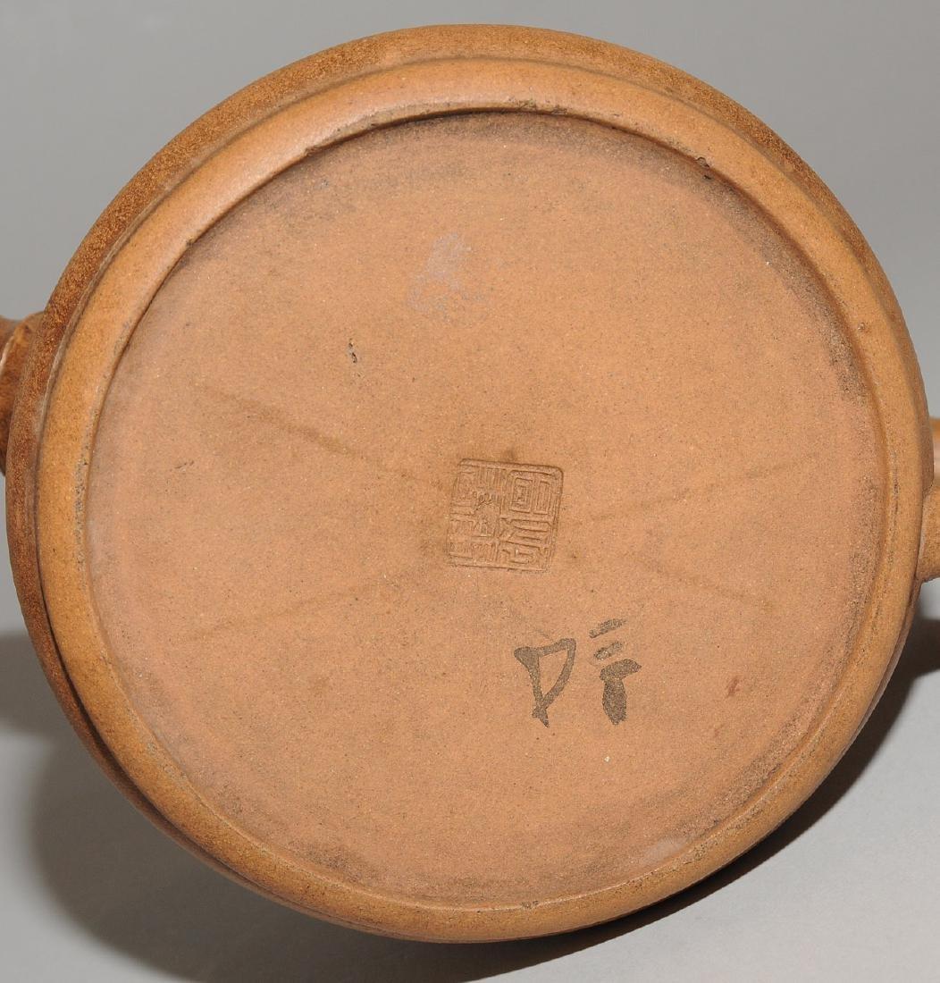 Lot: 2 Teekannen China, um 1900. Yixing-Keramik. - 10