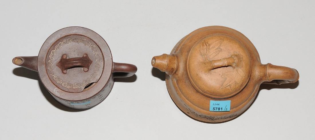 Lot: 2 Teekannen China, um 1900. Yixing-Keramik. - 5