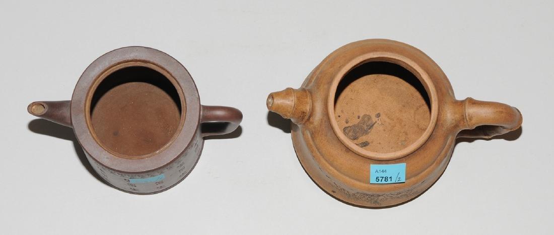 Lot: 2 Teekannen China, um 1900. Yixing-Keramik. - 6