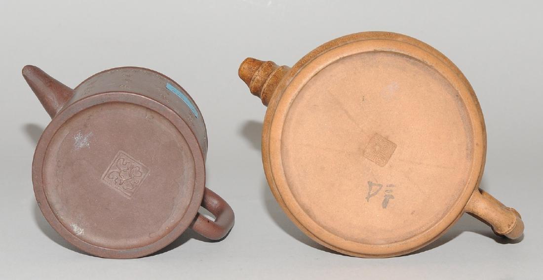 Lot: 2 Teekannen China, um 1900. Yixing-Keramik. - 8